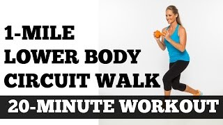 Walk at Home, Indoor Walking, Low Impact, Strength Training: 1 Mile Lower Body Circuit