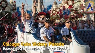 Chicago Cubs players get World Series victory parade at Disney World