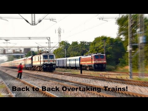 3 Back to back Speedy Trains of Indian Railways overtaking Andaman Express within 6 minutes