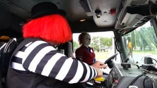 Clowning Around In a Firetruck