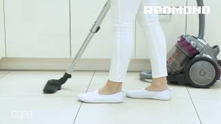 Пылесос с мультициклоном: REDMOND RV-C331 для быстрой уборки пола, мебели, текстиля