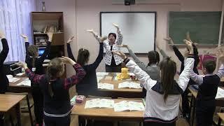 Урок немецкого языка / фрагмент / Gymnastik / учитель Щербатых Л.Ф.