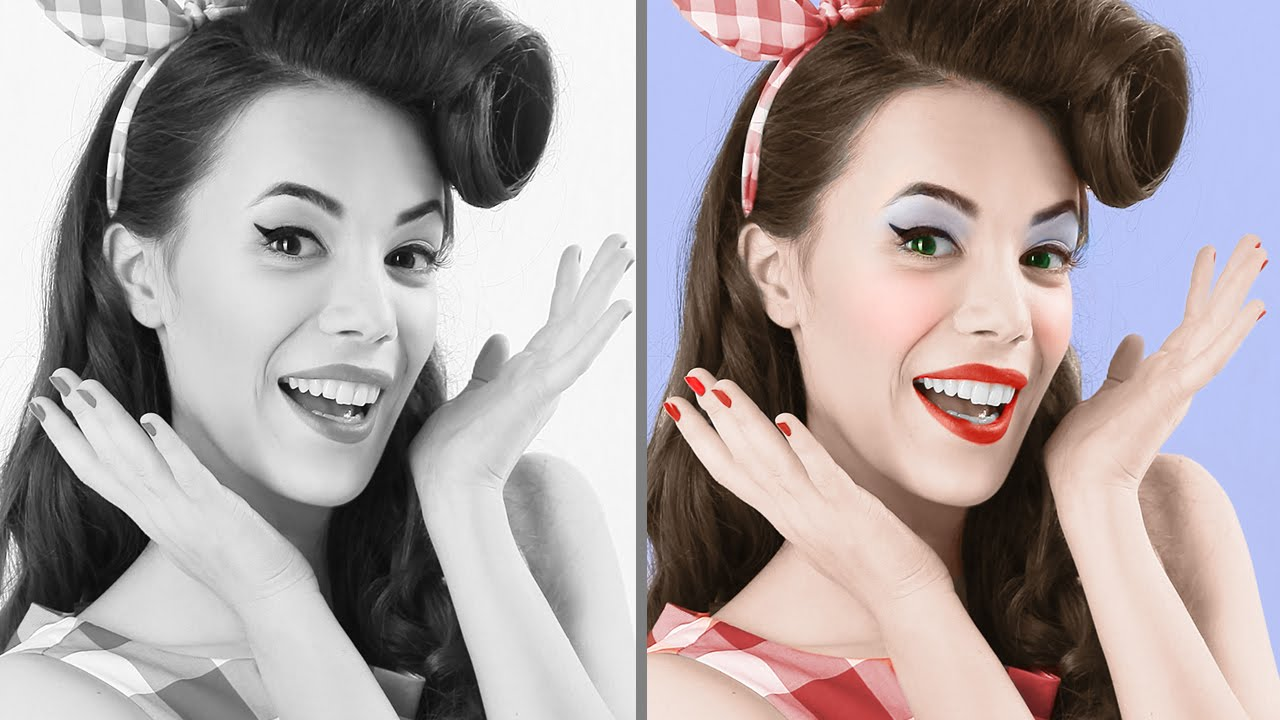 Photoshop tutorial best way to colorize black white photos youtube