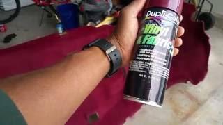Dye Your Car Carpet For $25