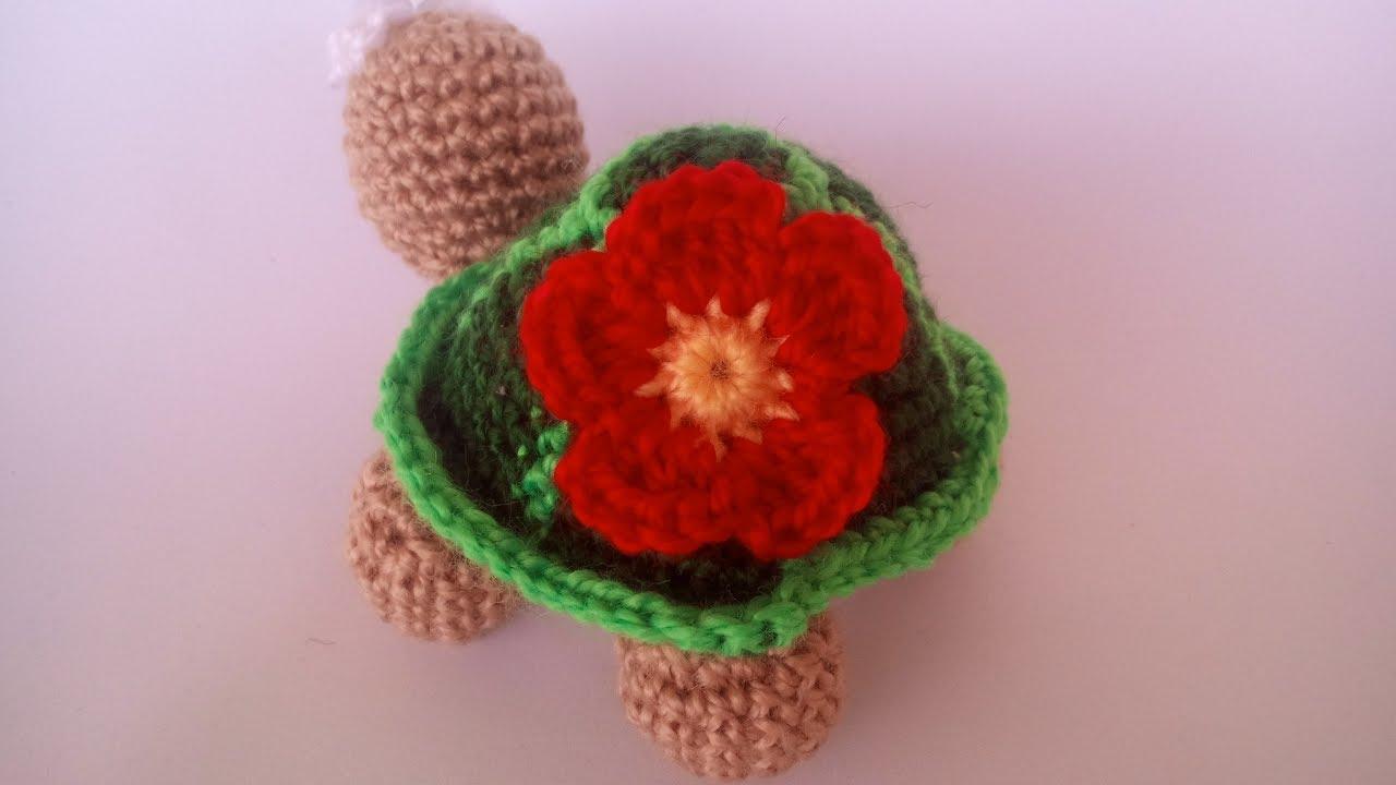 Amigurumi Flower Tutorial : Fiore uncinetto amigurumi tutorial flower crochet eng sub
