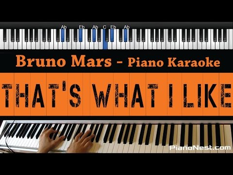 Bruno Mars - That's What I Like - Piano Karaoke / Sing Along / Cover with Lyrics