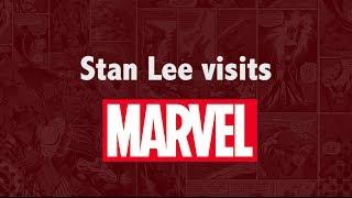 Stan Lee Visits the Marvel Office