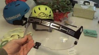 Applying a vinyl decal to a Stilo ST5 visor