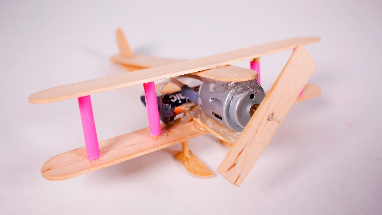 How To Make A Electric Plane With Dc Motor Wooden Toy Diy