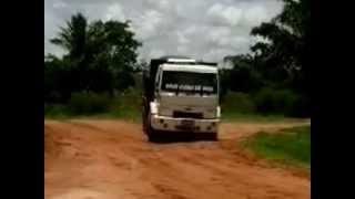 Caminhão caçamba Ford Cargo Galera do Chapéu Virado DF Apavorando no Diretão