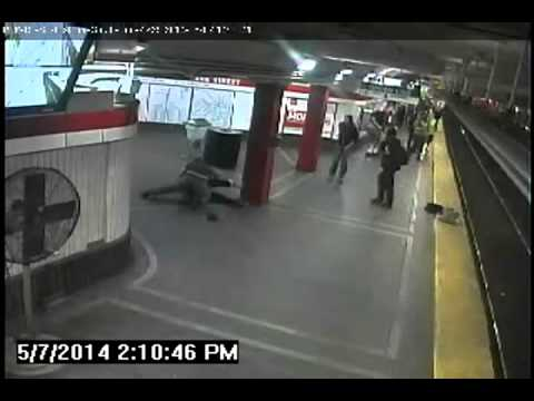 "Video MBTA tried to hide shows transit police ""hero"" beating man"