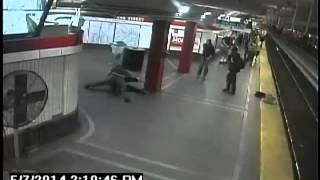 "Video MBTA tried to hide shows transit police ""hero"" beating man"