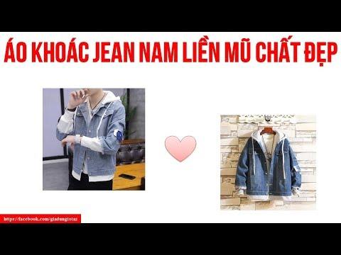 Áo Khoác Jean Nam Liền Mũ Chất Đẹp Ống Tay Nhỏ  -Thời Trang Nam 2019
