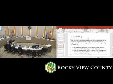 September 27, 2019 - Rocky View County Special Council Meeting