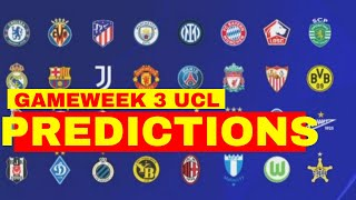 CHAMPIONS LEAGUE PREDICTIONS FOR GAMEWEEK / MATCHDAY 3 BY GIO PREDICTOR | BETTING TIPS screenshot 1