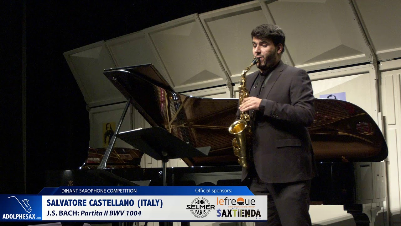 Salvatore Castellano (Italy) - Partita II by J S  Bach  (Dinant 2019)