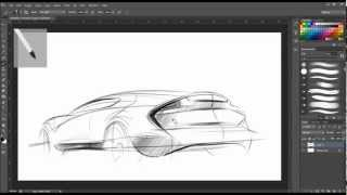 Drawing | PHOTOSHOP - CAR SKETCH