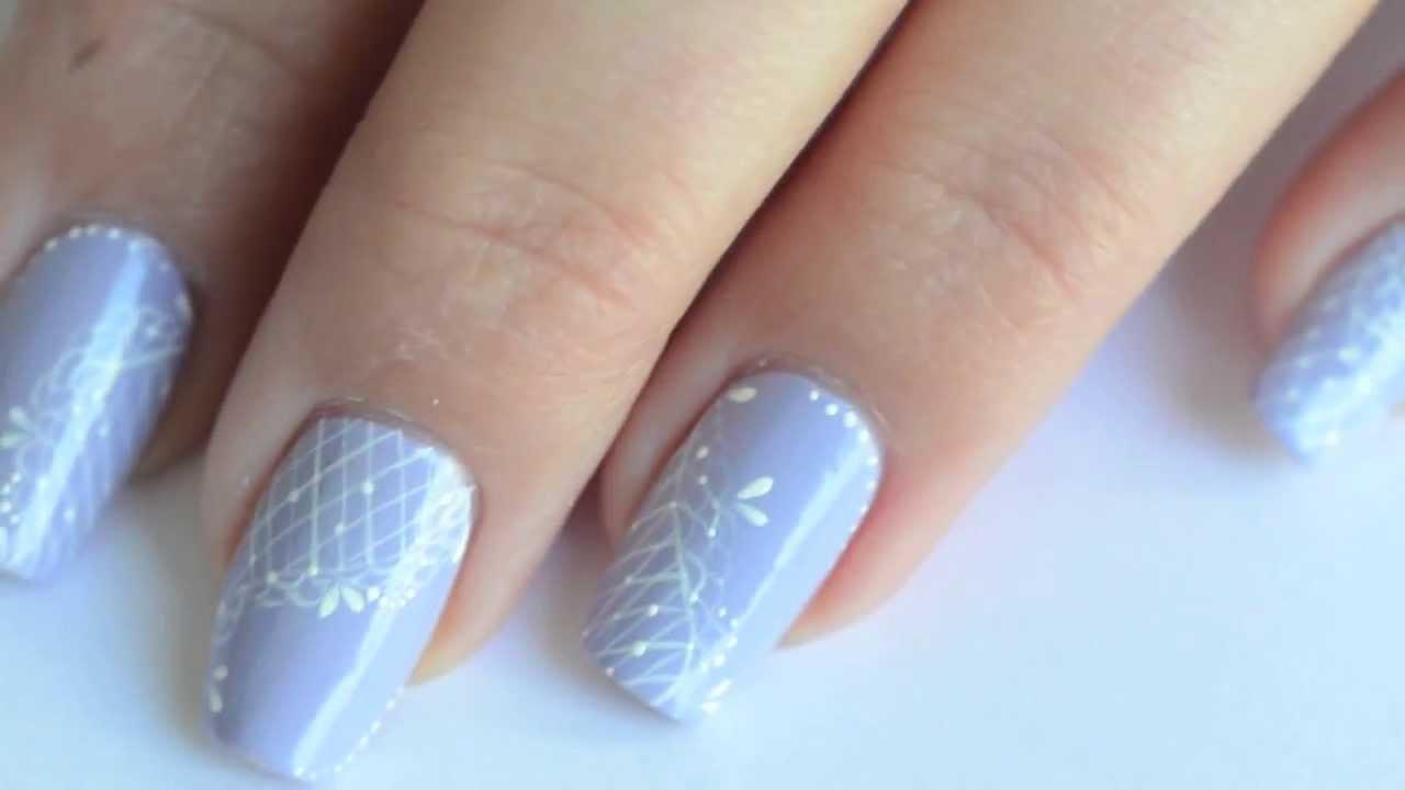 Nail art dentell de printemps youtube - Nail art printemps ...