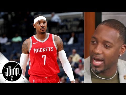 You can hear Carmelo Anthony's 'unease' with coming off bench - Tracy McGrady | The Jump