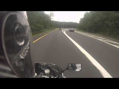 Run to Bear Mountain 7/28/2013 part2 car accident on the gsp. we blew by it all