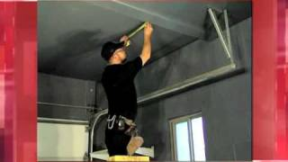 Strong Racks 500lb 4'x8' Ceiling Storage Installation Video.mov