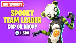 Fortnite SPOOKY TEAM LEADER Skin Worth it? Cop or Drop?