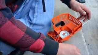 Replacing Pull Start on Stihl KM 55 R