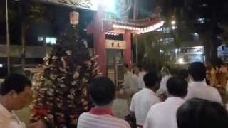 Cap Go Meh event at Cheow Leng Beo: Inspection