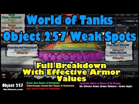 World of Tanks Object 257 Weak Spots | Full Breakdown + Effective Armor Values | WoT 9.22 Update