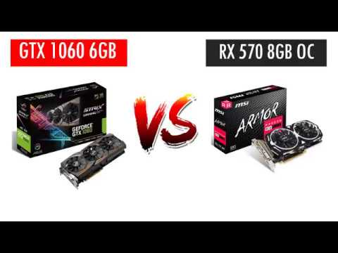 GTX 1060 6GB vs RX 570 8GB OC - i5 8400 - Benchmarks Comparison