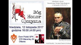 Swieto Niepodleglosci 11 Listopada w Ottawie - 12 XI 2017