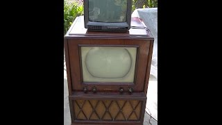 RCA KCS29 1940s Black and White and Emerson Color Television