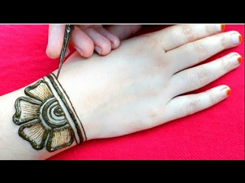 Easy Beautiful Mehndi /New Stylish Back Hand Mehndi ||mehendi Designs 2019 ||मेहँदी डिजाईन