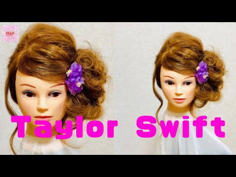 Taylor Swift Hairstyles Messy Side🌸Tutorial For Girls【Updo Lover】