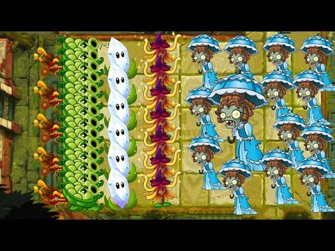 Witch Hazel, Magnifying Grass vs All Zombies - Plants vs Zombies 2
