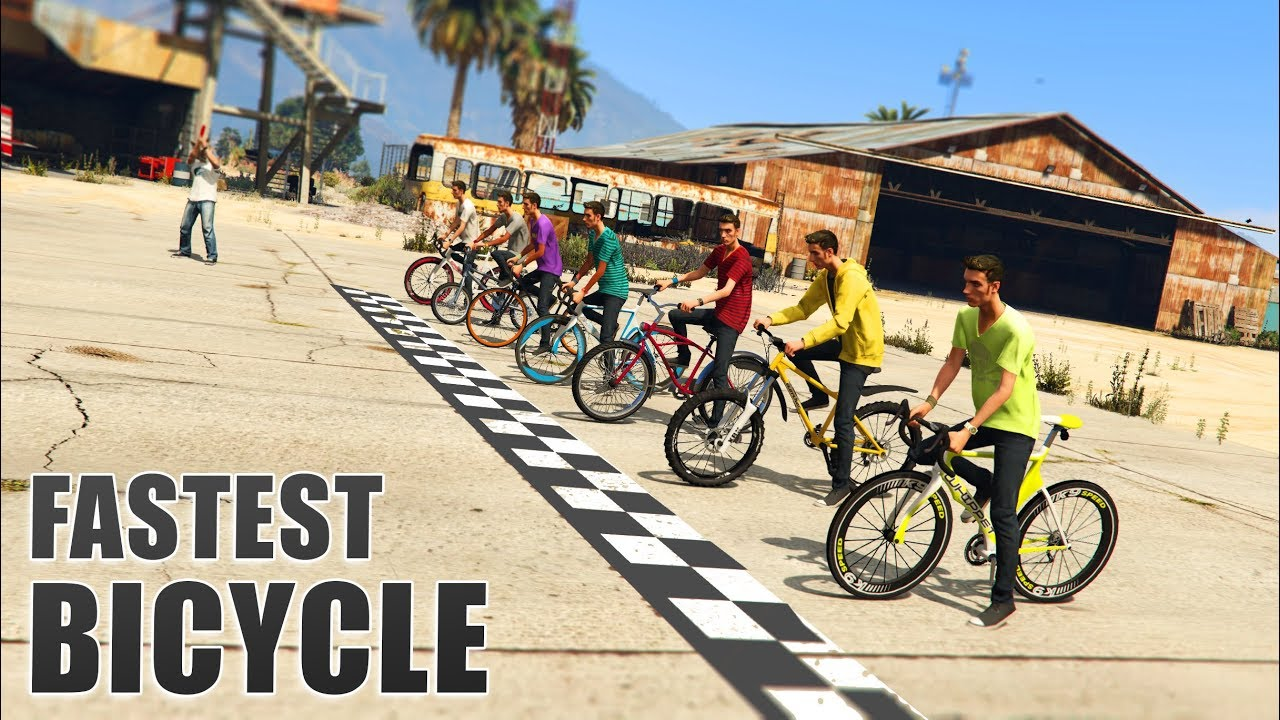 Gta V Which Is The Fastest Bicycle Youtube