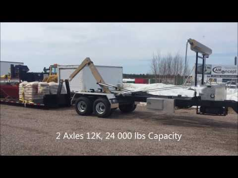 CL242DPH16-JIB - TRAILER : HOOK-LIFT 24,000 LBS CAPACITY WITH JIB