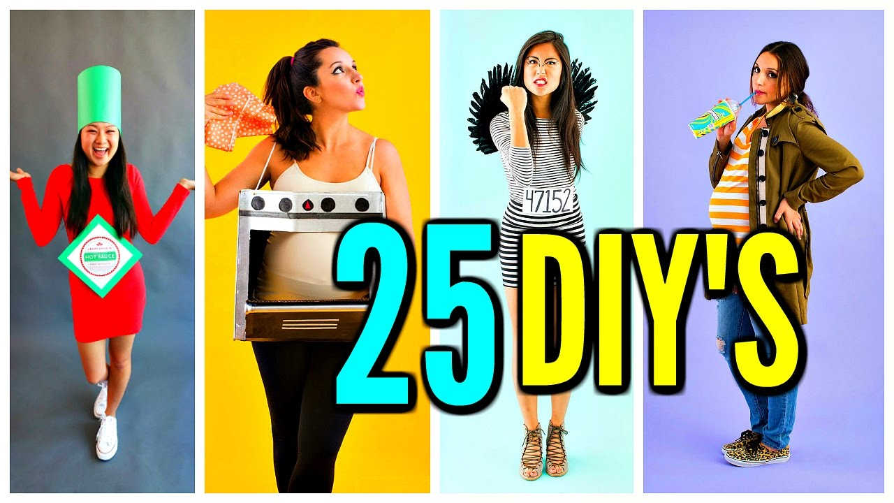 25 diy halloween costume ideas! funny costumes - youtube