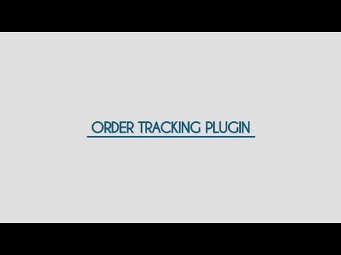 Order Tracking Plugin for WordPress