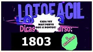 Dicas para lotofácil concurso 1803 Sábado 20/04/2019