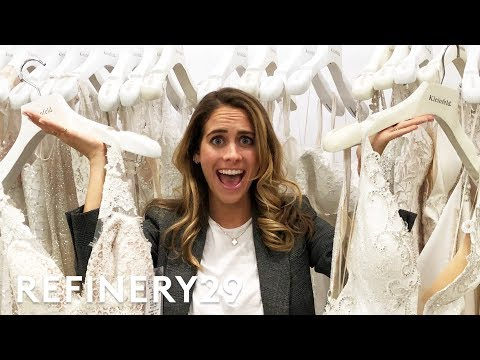 I Tried Being A 'Say Yes To The Dress' Bridal Consultant | Lucie For Hire | Refinery29