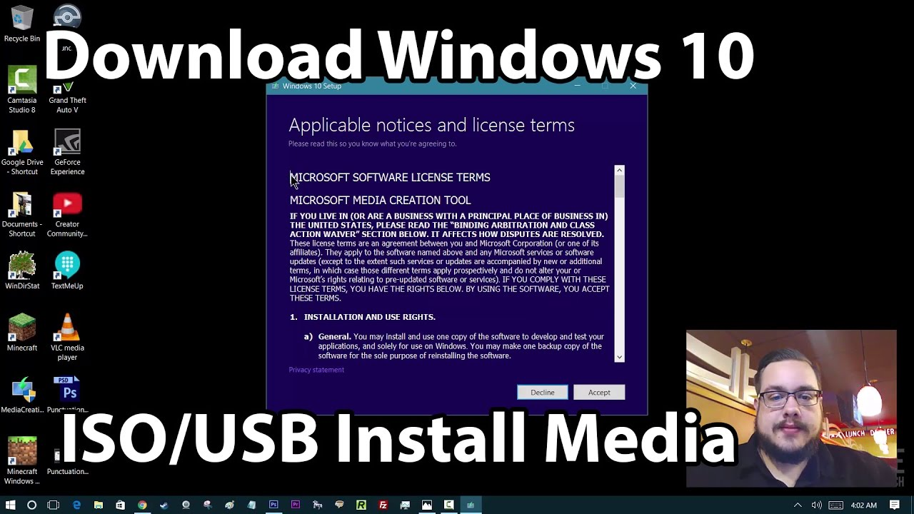 How to Download Official Windows 10 ISO/USB Install Media - YouTube
