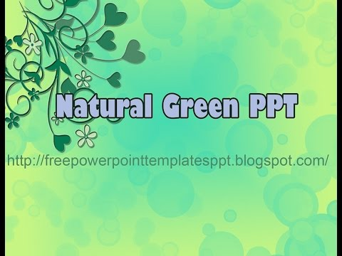 Free Nature Green Leaves Powerpoint Template To Download For Presentation Background