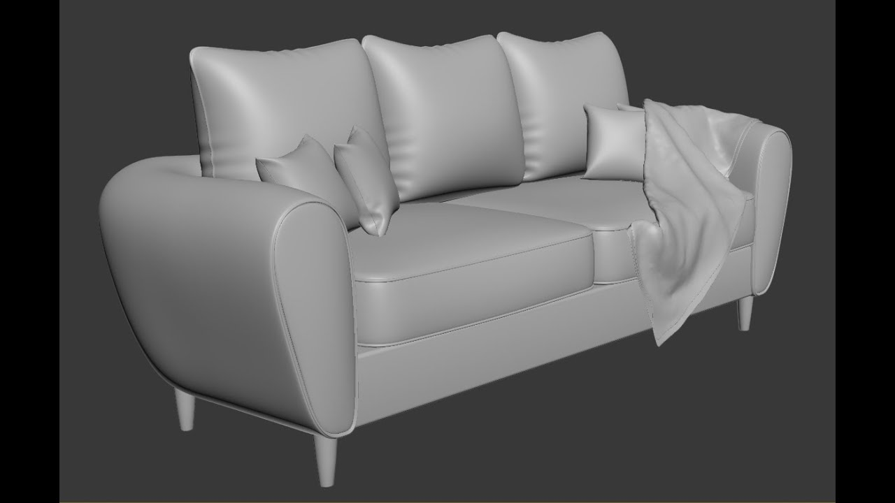 3dsmax Sofa And Pillow Modeling YouTube