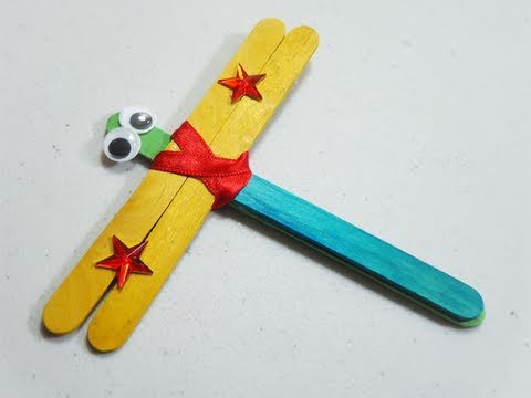 How to make apopscicle stick dragonfly - EP - simplekidscrafts - simplekidscrafts