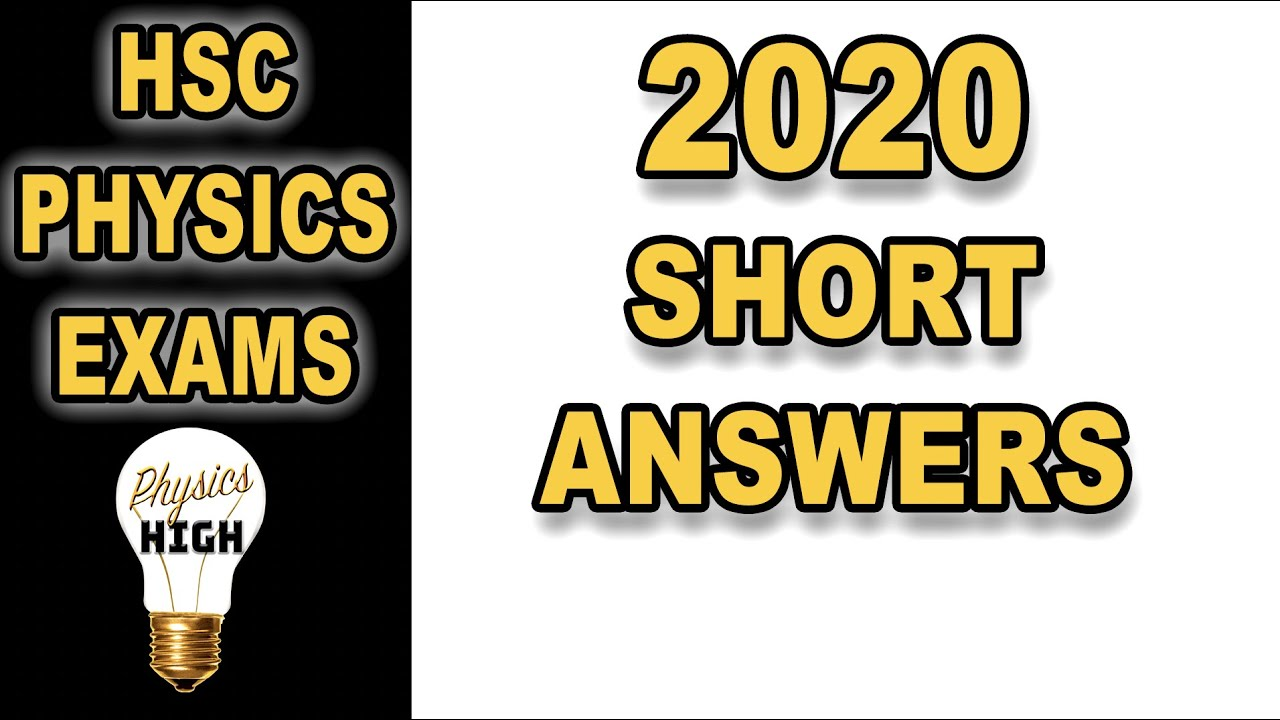 Download Answers to part of the the HSC Physics paper 2020