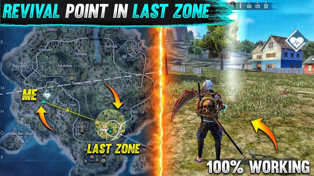 Top 5 New Unknown Tricks in free fire || Revival point in last zone secret trick 😱 Working 100%