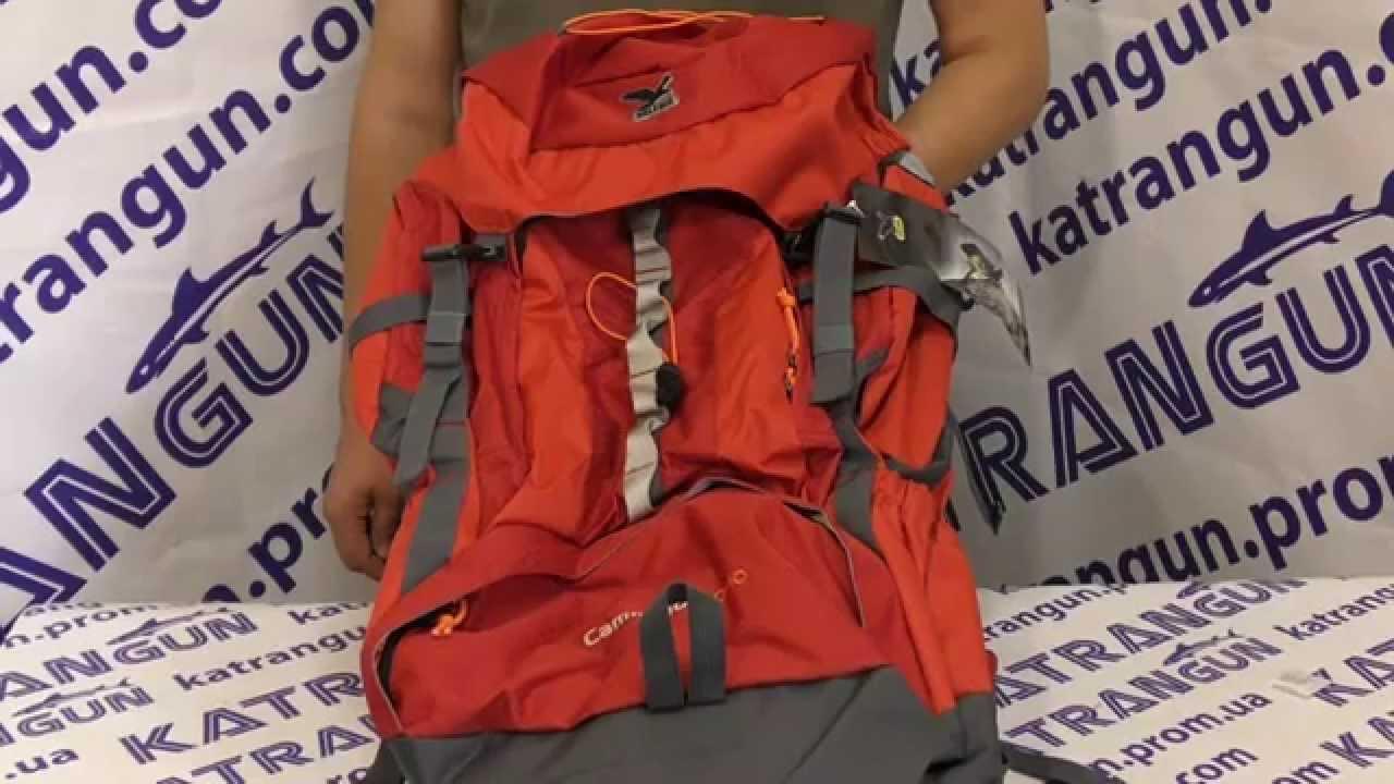 27a6b20baf Рюкзак с расширением Salewa Cammino 50+10L - YouTube