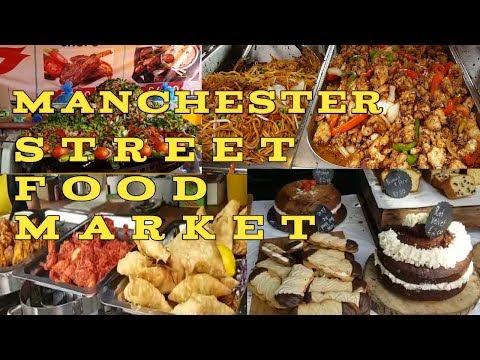 MANCHESTER STREET FOOD MARKET || Walk Through Street Food Market In Manchester || Filipina-Pakistani