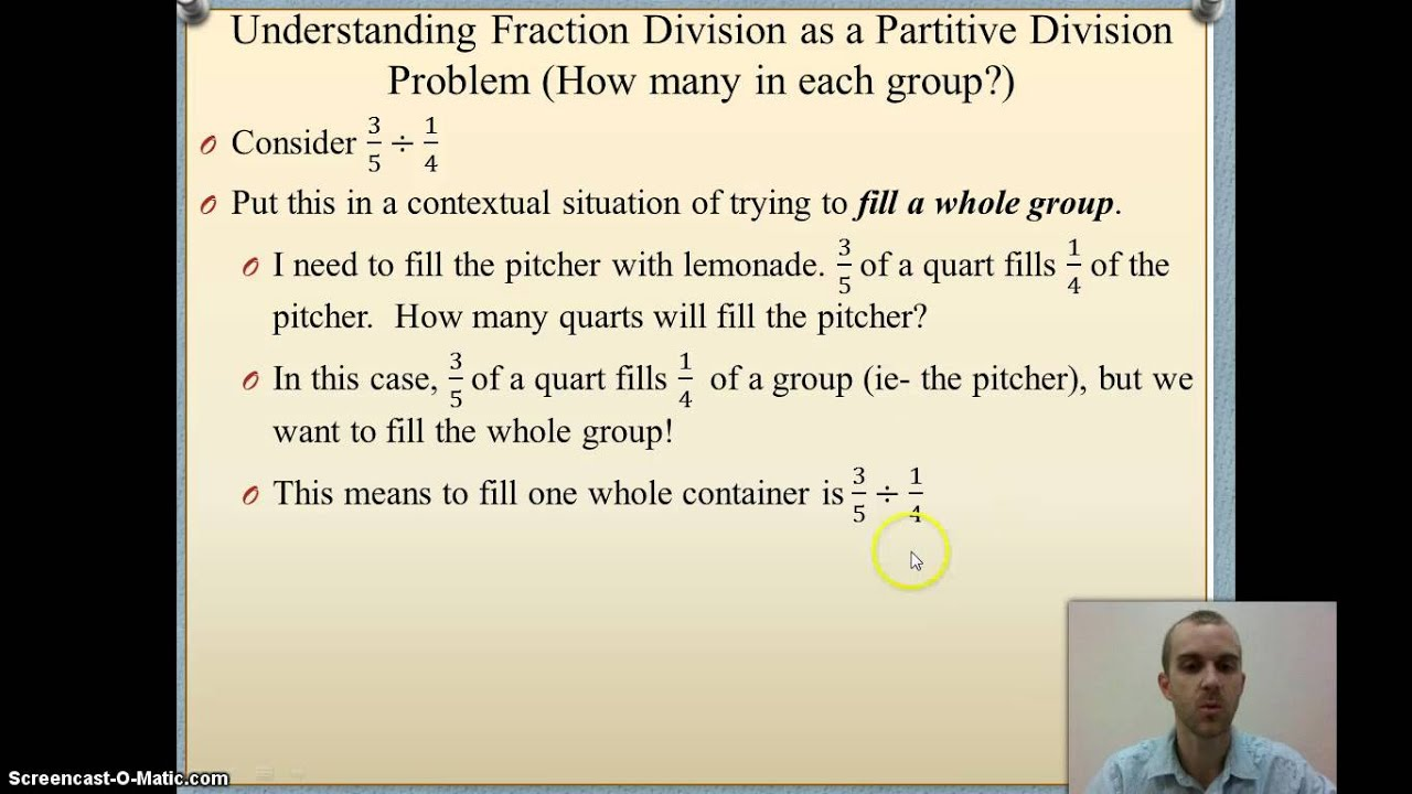 Ch 6 5 Division Of Fractions From The Partitive Division